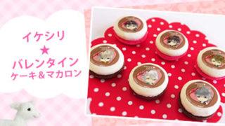イケシリバレンタインケーキ&マカロン